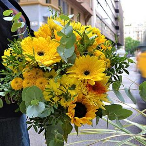 yellow-bouquet-barcelona